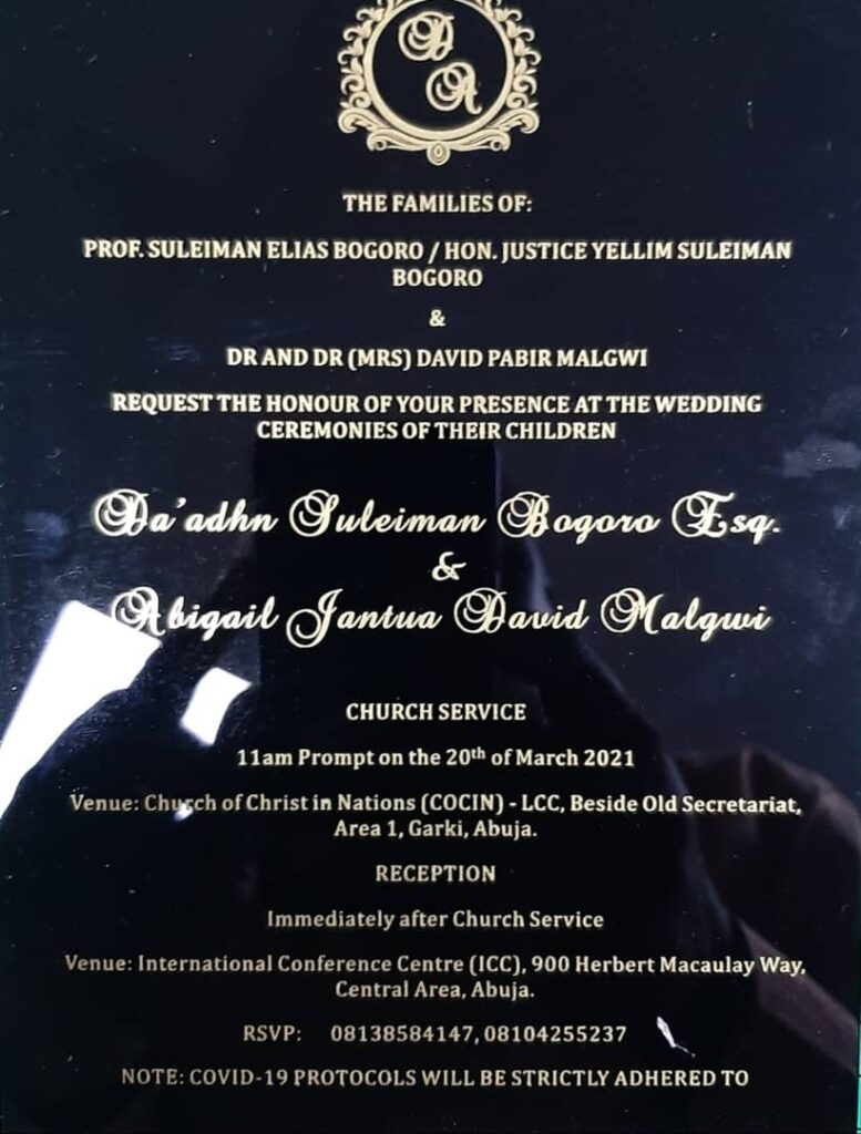 We request the honour of your presence at the wedding ceremonies of our children